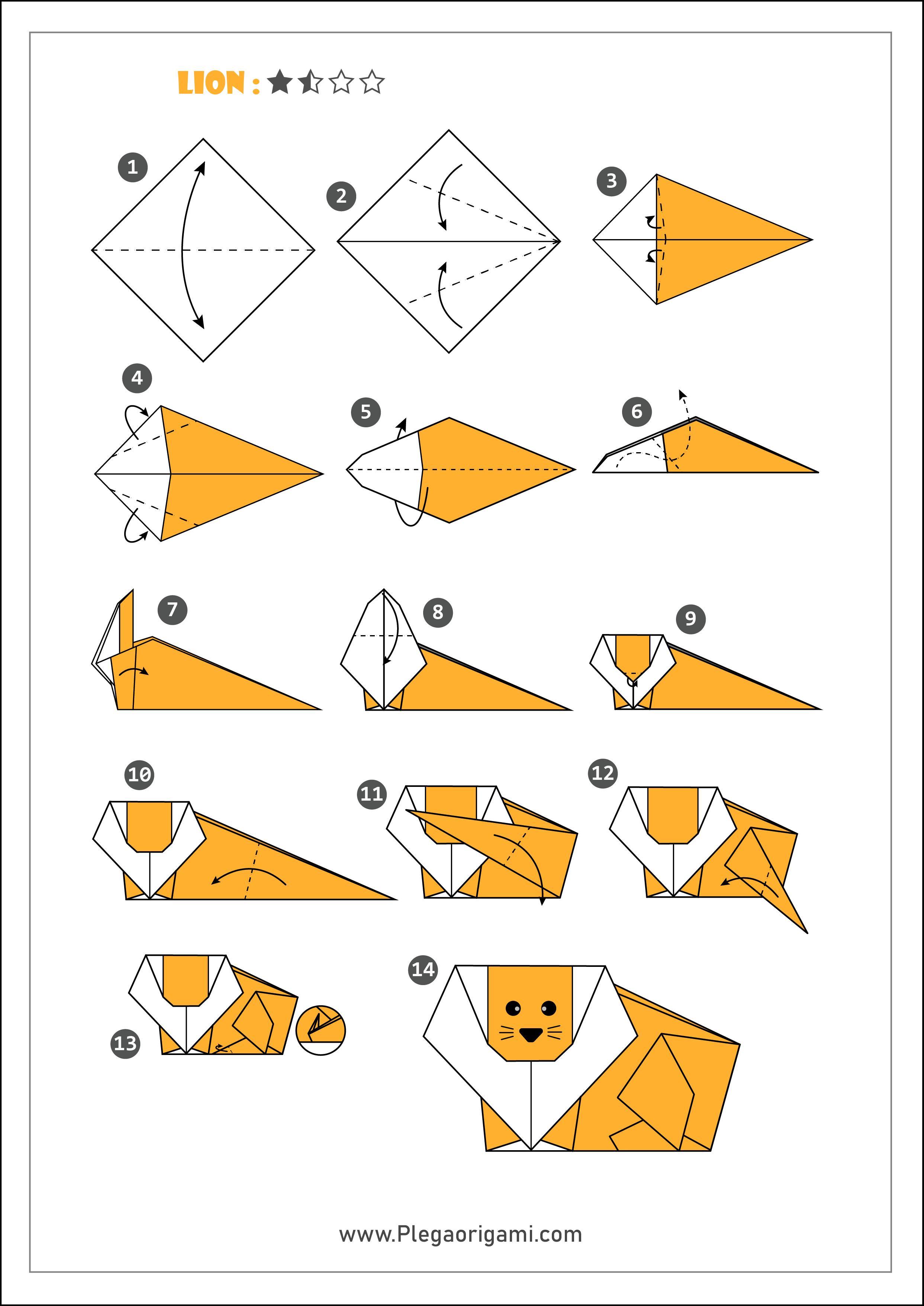 Origami Lion by T Gotani | 3512x2485